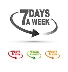 Seven days set vector