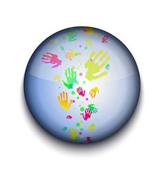 Hand prints app icon vector image