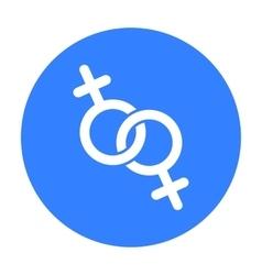 Feminine icon black single gay icon from the big vector