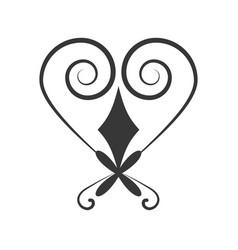 heart ornament decoration design vector image