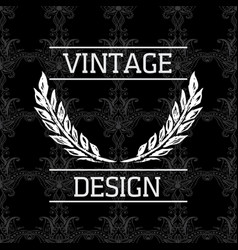 elegant vintage card with seamless background vector image