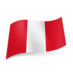 National flag of peru presented as three vertical vector