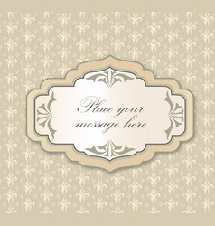 Gentle greeting card frame invitation over polka vector