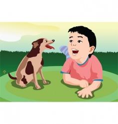 puppy sing vector image