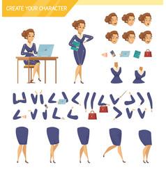 Office worker constructor cartoon set vector