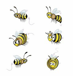 Funny cartoon bee vector