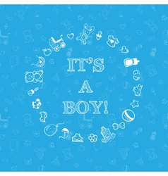 Baby shower design over blue background with vector