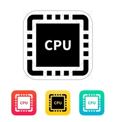 Cpu with name icon vector