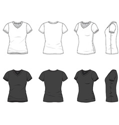 V-neck t-shirt vector