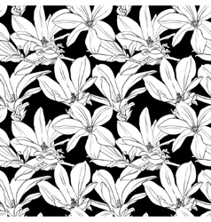 Decorative floral seamless pattern with flowers on vector image