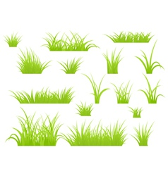 Grass patches vector