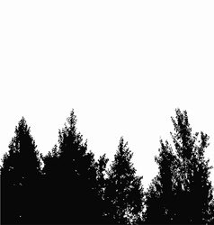 Trees silhouette vector