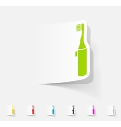 Realistic design element electric toothbrush vector