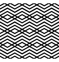 Modern zigzag contrast geometric seamless pattern vector