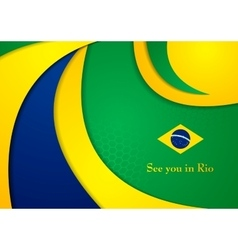 Brazil colors abstract corporate wavy vector