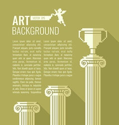 Pixel graphics background for text column cup vector