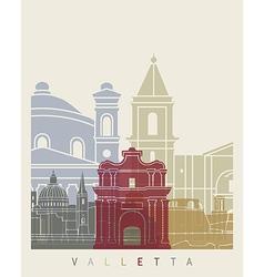 Valletta skyline poster vector