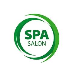 Abstract round logo for spa salon vector