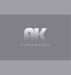 ak a k pastel blue letter combination logo icon vector image