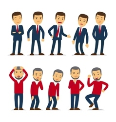 Businessman emotions vector