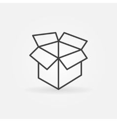 Carton box linear icon vector
