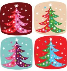 cartoon Christmas fir vector image
