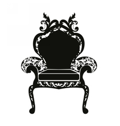 Classic royal armchair vector