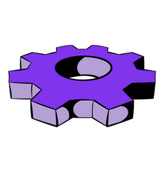 Cog settings icon icon cartoon vector