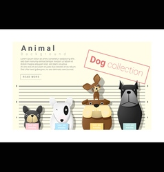 Cute animal family background with Dogs 4 vector image vector image
