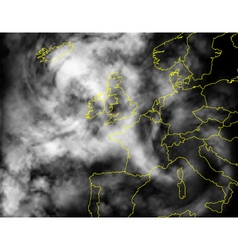 europe cloud vector image vector image