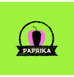 Flat icon design collection paprika emblem vector