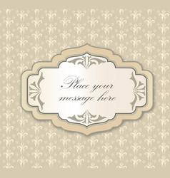 Gentle greeting card frame invitation over polka vector