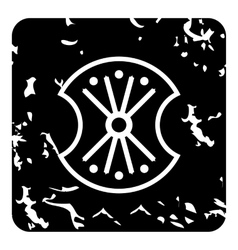 German shield icon grunge style vector