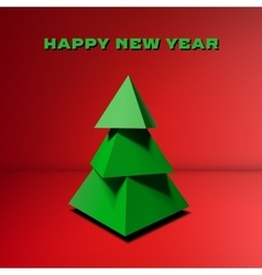 Low poly Christmas tree vector image vector image