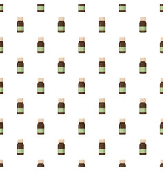 Medicine brown bottle pattern vector
