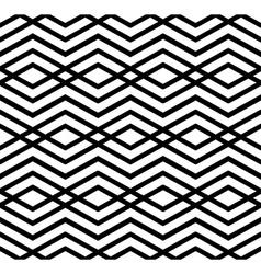 Modern zigzag contrast geometric seamless pattern vector