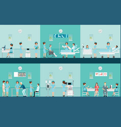 nurse health care decorative icons set with vector image vector image