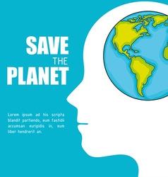 Planet earth design vector image