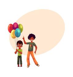 preschooler and teenage black african american vector image vector image