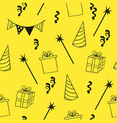 Seamless birthday pattern decorative background vector