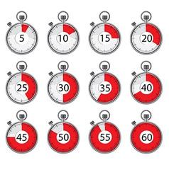 Stopwatch set vector image vector image