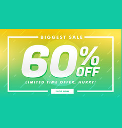 Stylish sale discount and offer banner design vector