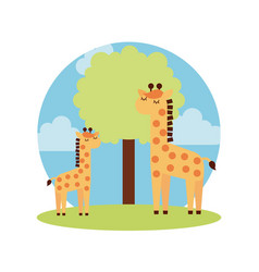 tender cute giraffe card icon vector image vector image