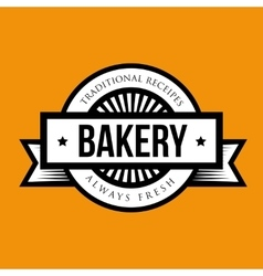 Vintage retro bakery logo badge vector image