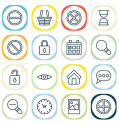 Web icons set collection of obstacle positive vector