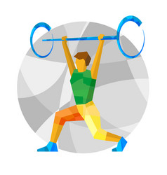 Weightlifter with abstract patterns vector