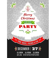 Christmas party poster design abstract vector
