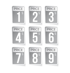 Price tag set labels vector image
