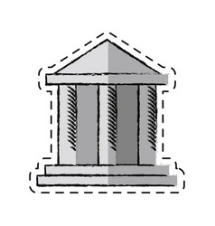 cartoon building bank invesment money vector image