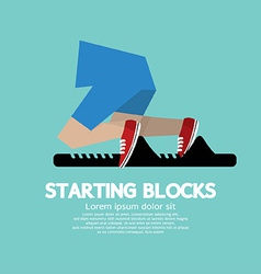 Running starting blocks vector